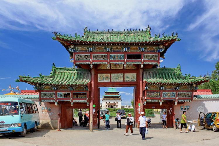 Улан Батор монастырь Гандан