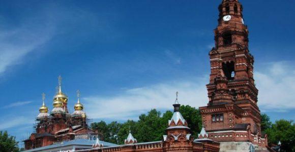 Черниговский мужской скит пятиярусная колокольня