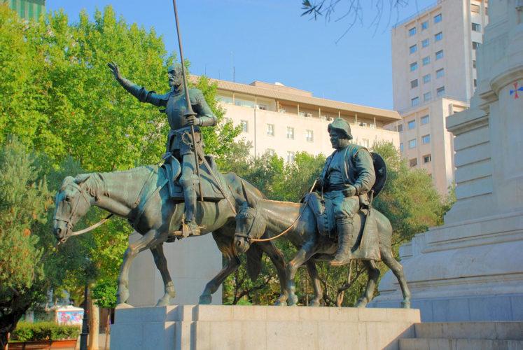 Памятник Дон Кихоту Мадрида