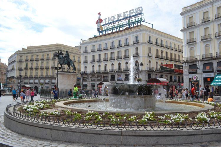 Площадь Пуэрта-дель-Соль Мадрида