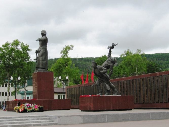 Южно-Сахалинск площадь Славы