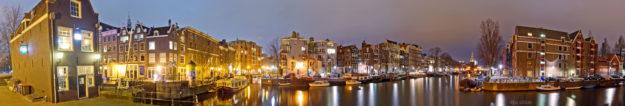 Нидерланды панорама Амстердама