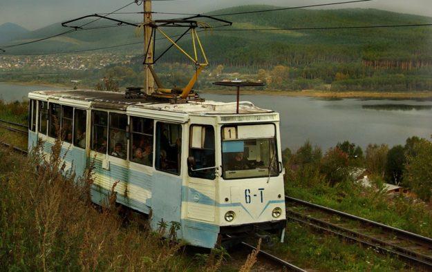 Златоуст Трамвай в горах