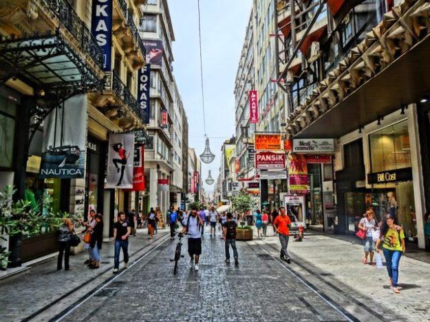 Афины торговая улица Эрму