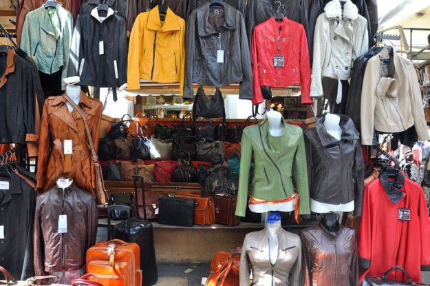 Флоренция кожаный рынок